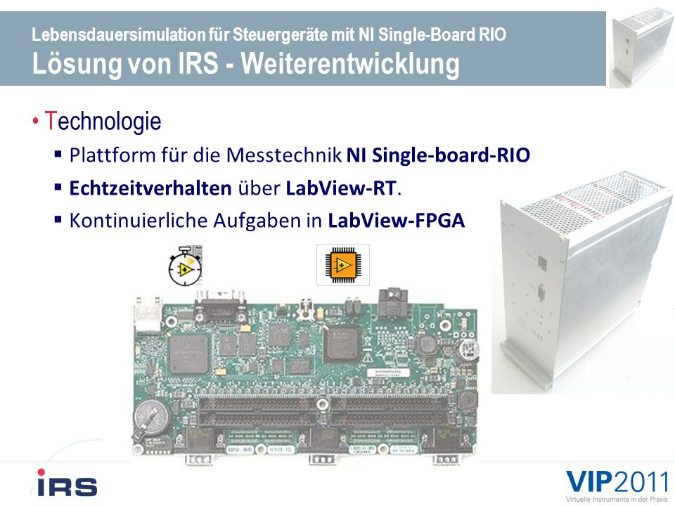 Technologie Plattform für die Messtechnik NI Single-board-RIO
