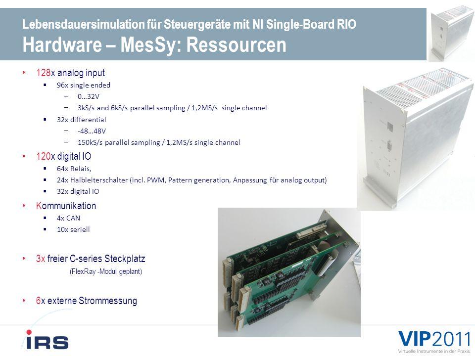 Lebensdauersimulation für Steuergeräte mit NI Single-Board RIO Hardware – MesSy: Ressourcen