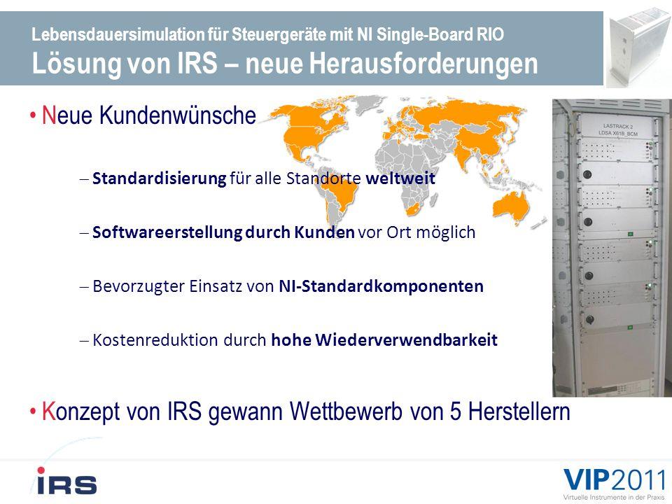 Konzept von IRS gewann Wettbewerb von 5 Herstellern