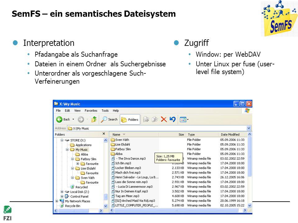SemFS – ein semantisches Dateisystem