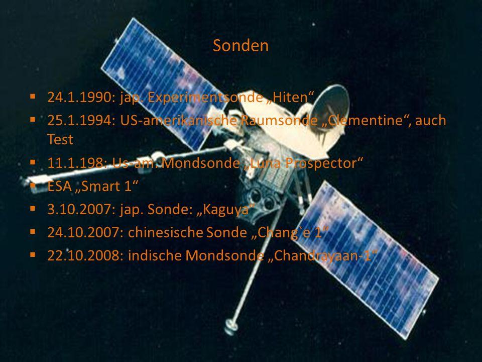 """Sonden 24.1.1990: jap. Experimentsonde """"Hiten"""