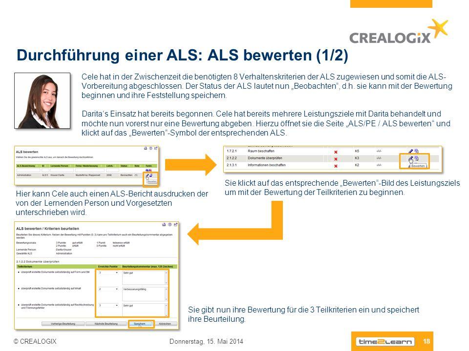 Durchführung einer ALS: ALS bewerten (1/2)