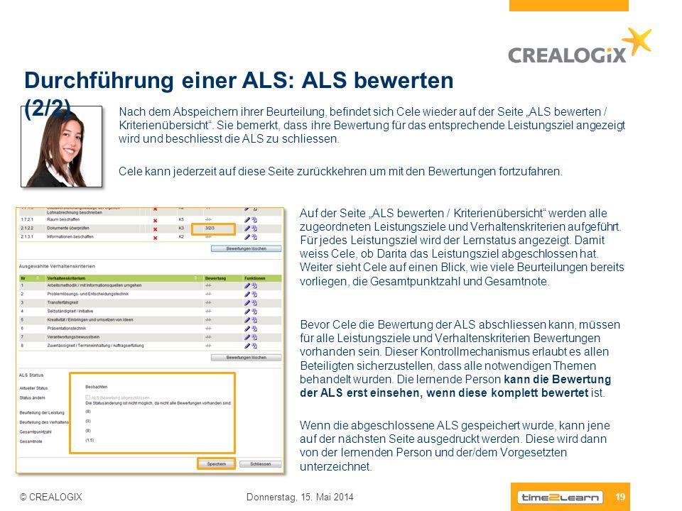 Durchführung einer ALS: ALS bewerten (2/2)