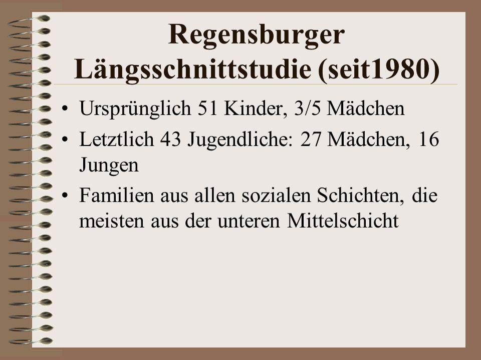 Regensburger Längsschnittstudie (seit1980)