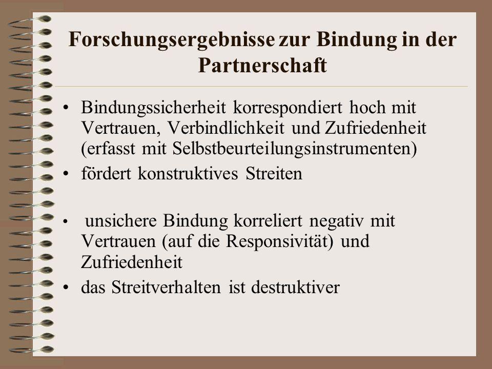 Forschungsergebnisse zur Bindung in der Partnerschaft