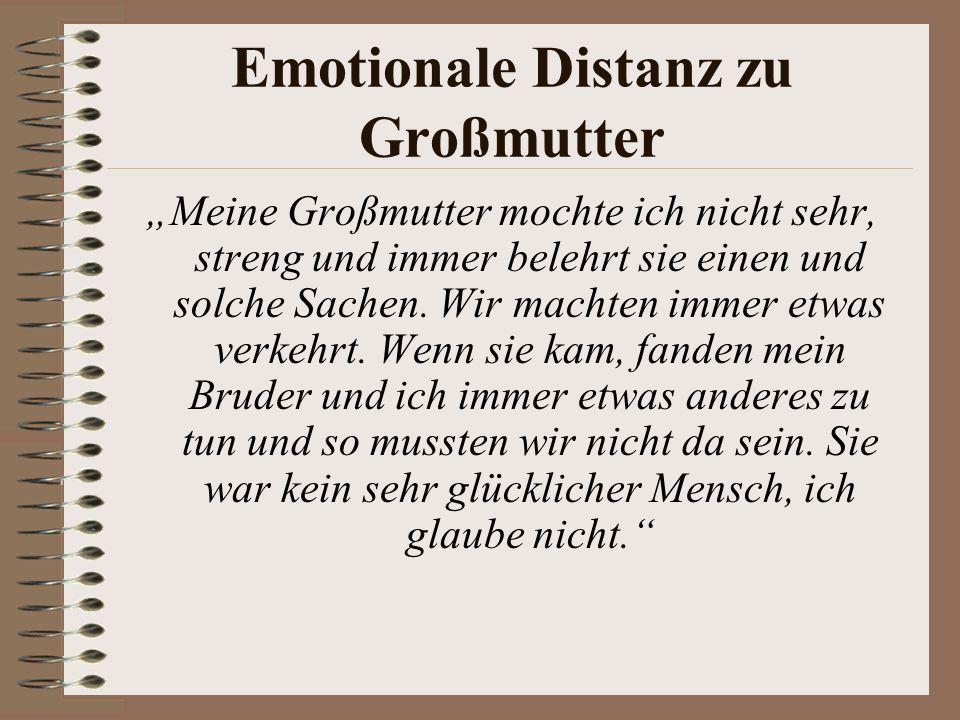 Emotionale Distanz zu Großmutter