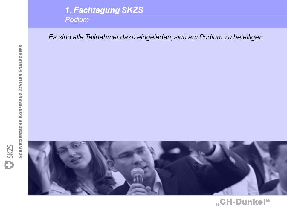 1. Fachtagung SKZS Podium