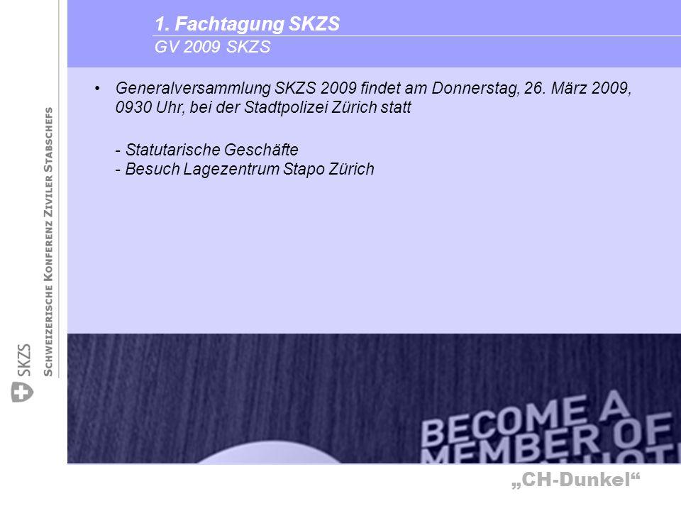 1. Fachtagung SKZS GV 2009 SKZS