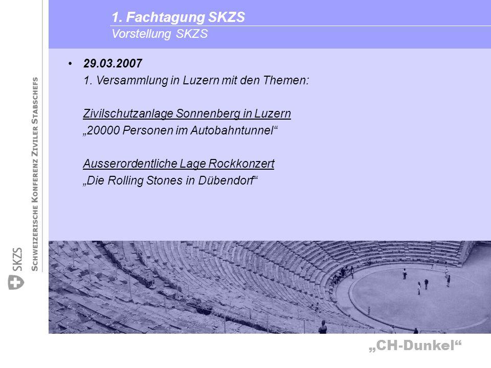 1. Fachtagung SKZS Vorstellung SKZS 29.03.2007