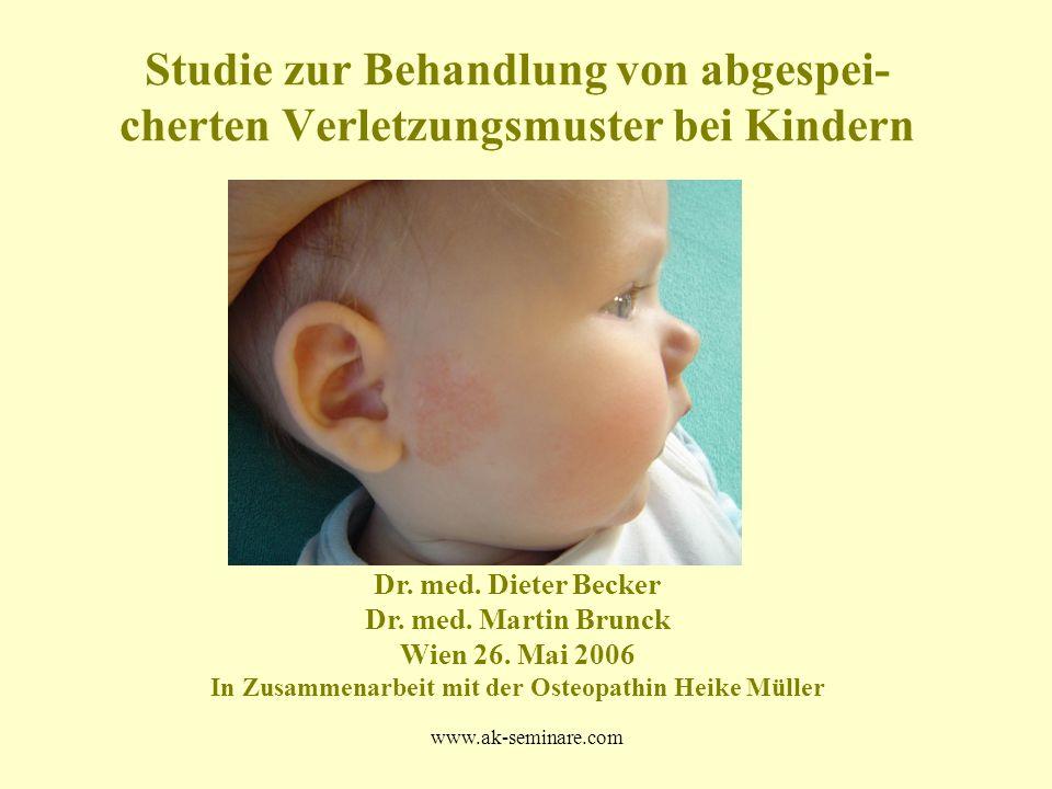 Studie zur Behandlung von abgespei-cherten Verletzungsmuster bei Kindern