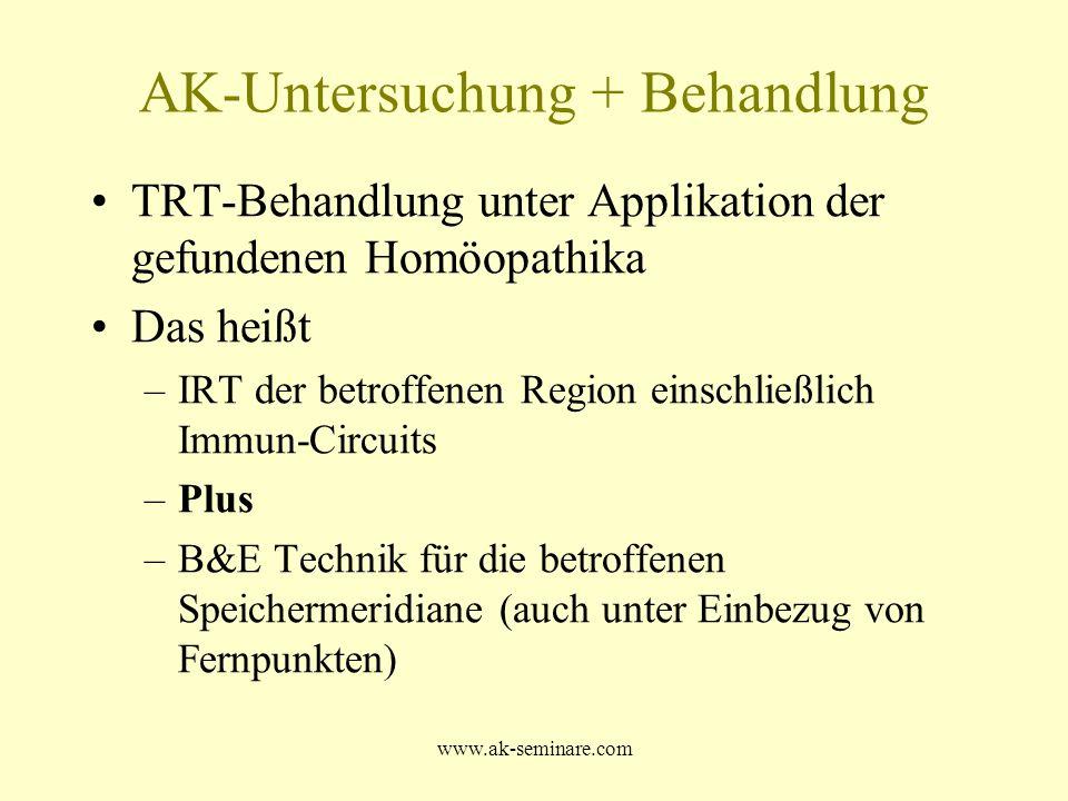 AK-Untersuchung + Behandlung