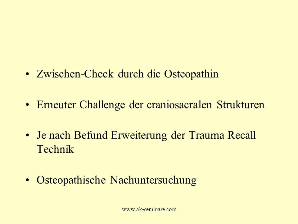 Zwischen-Check durch die Osteopathin