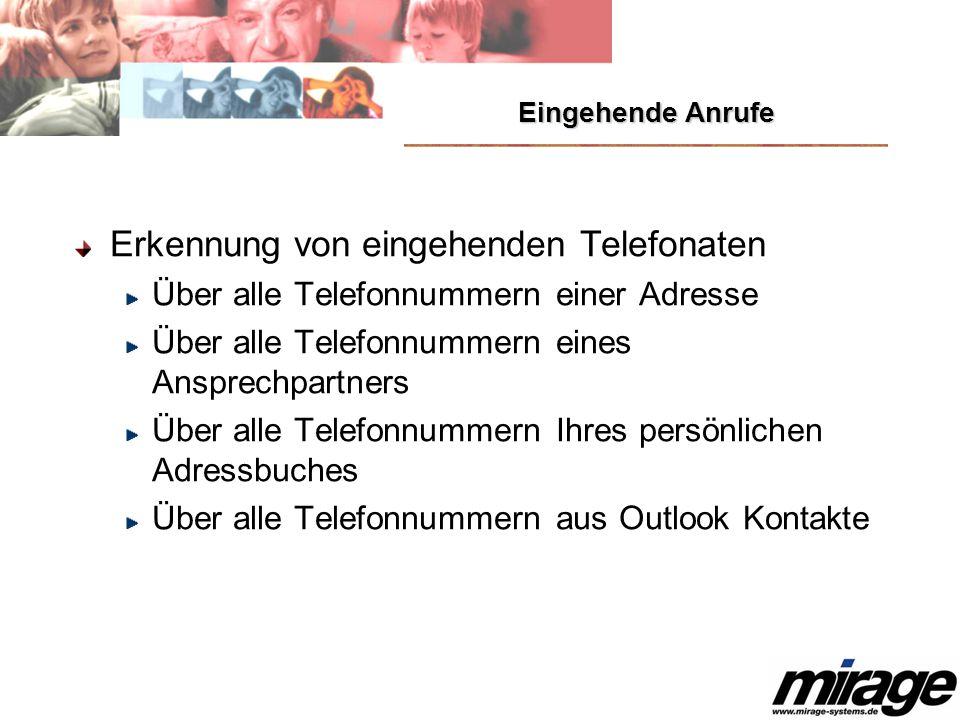 Erkennung von eingehenden Telefonaten