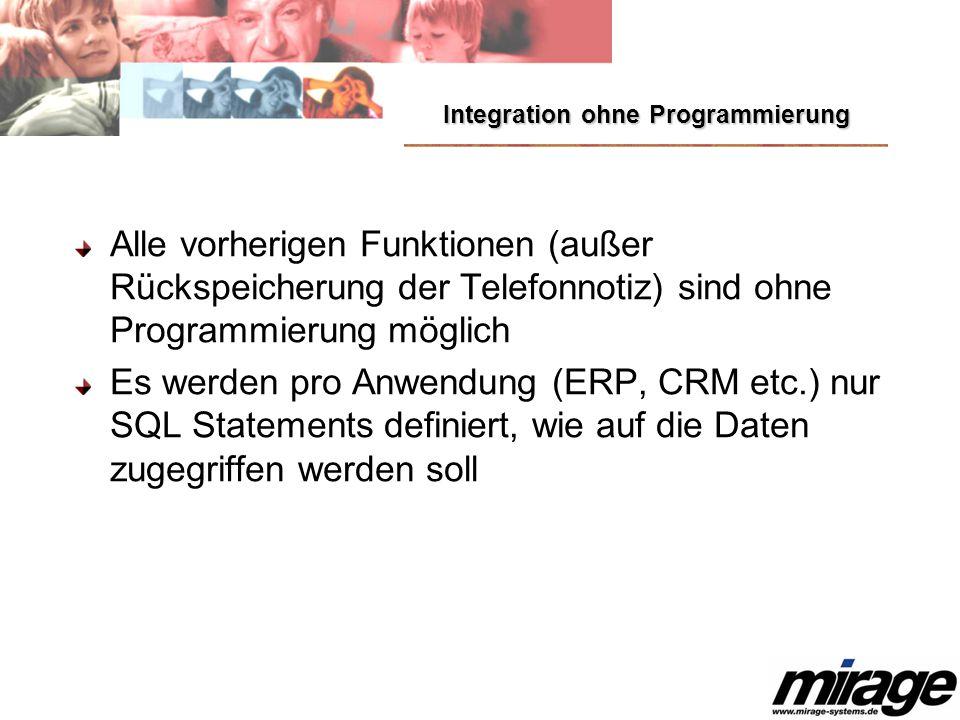 Integration ohne Programmierung