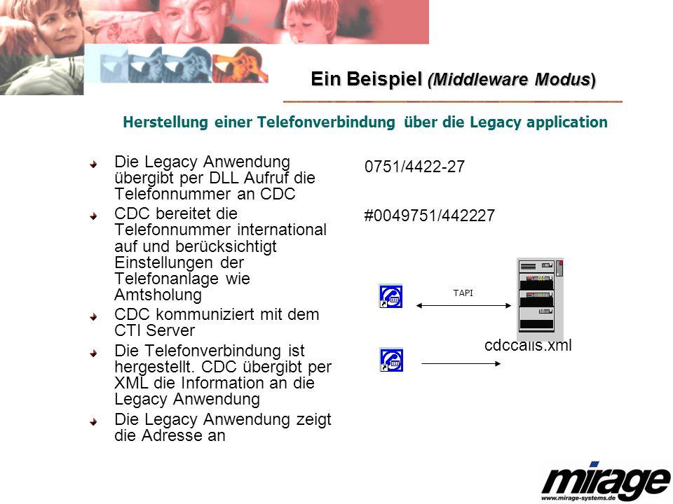 Ein Beispiel (Middleware Modus)