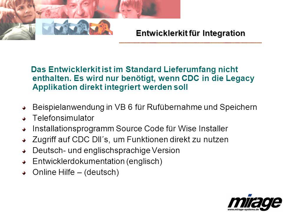 Entwicklerkit für Integration