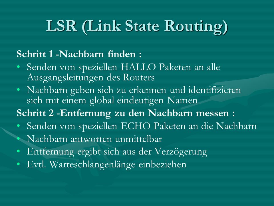 LSR (Link State Routing)