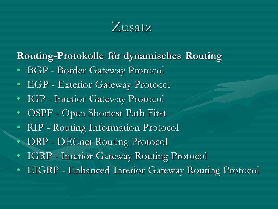 Zusatz Routing-Protokolle für dynamisches Routing