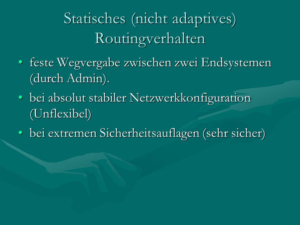 Statisches (nicht adaptives) Routingverhalten