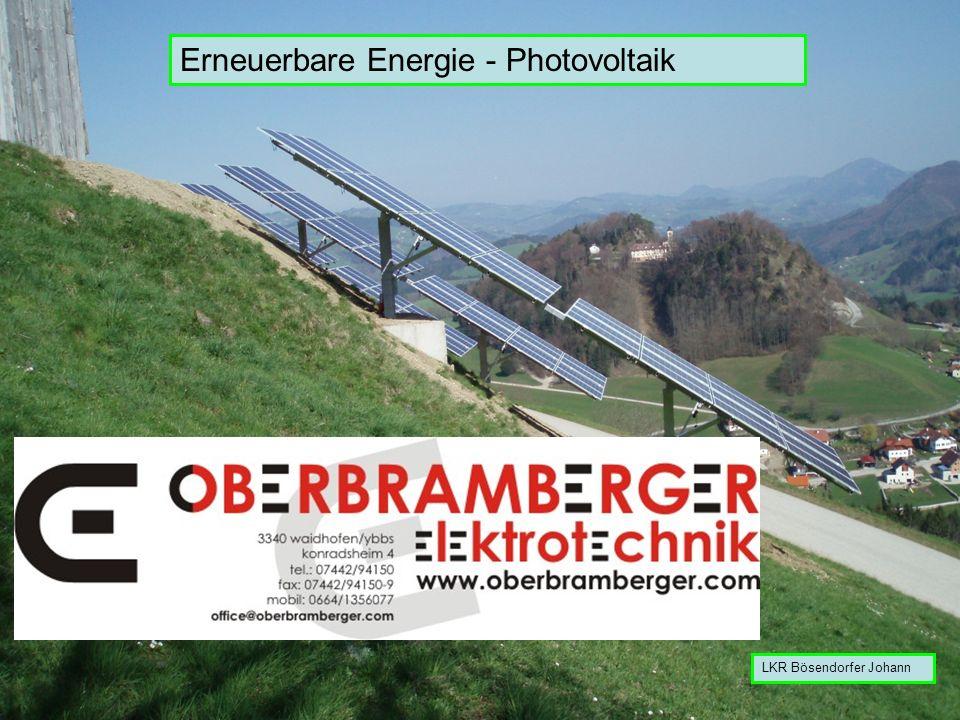 Erneuerbare Energie - Photovoltaik
