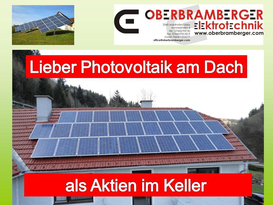 Lieber Photovoltaik am Dach