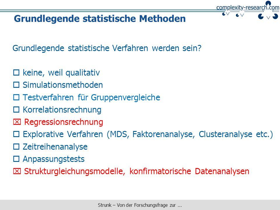 Grundlegende statistische Methoden