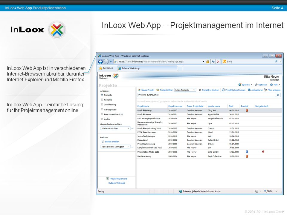InLoox Web App – Projektmanagement im Internet