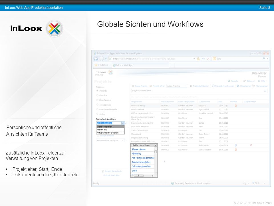 Globale Sichten und Workflows