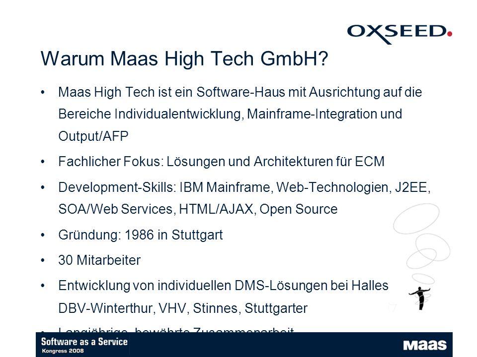 Warum Maas High Tech GmbH