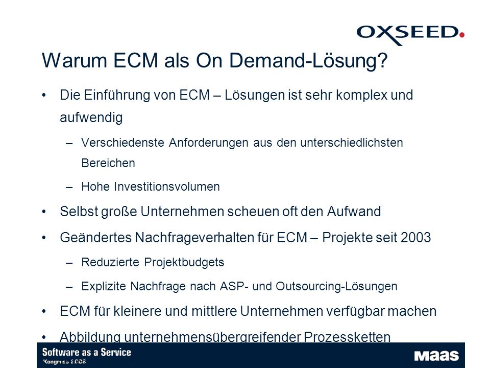 Warum ECM als On Demand-Lösung
