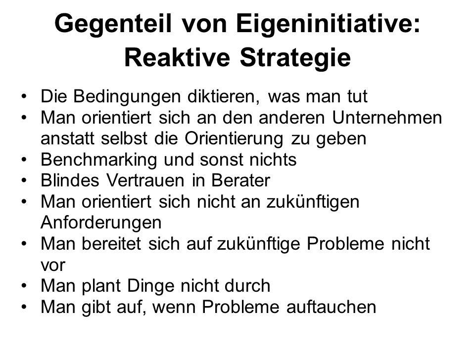 Gegenteil von Eigeninitiative: Reaktive Strategie