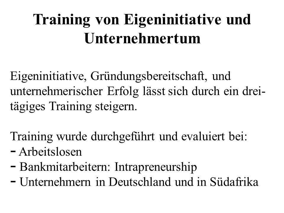 Training von Eigeninitiative und Unternehmertum