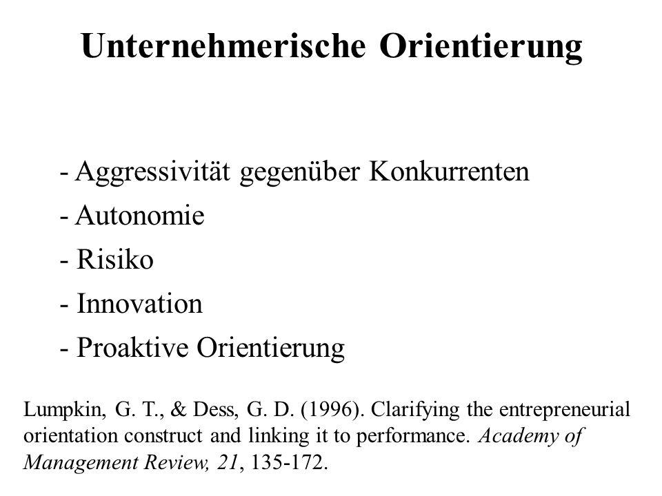Unternehmerische Orientierung