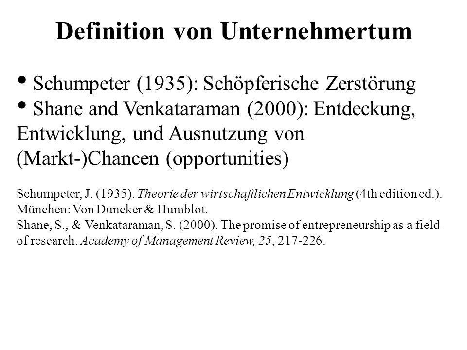 Definition von Unternehmertum