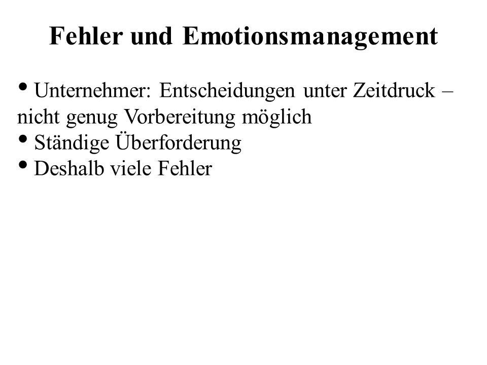 Fehler und Emotionsmanagement