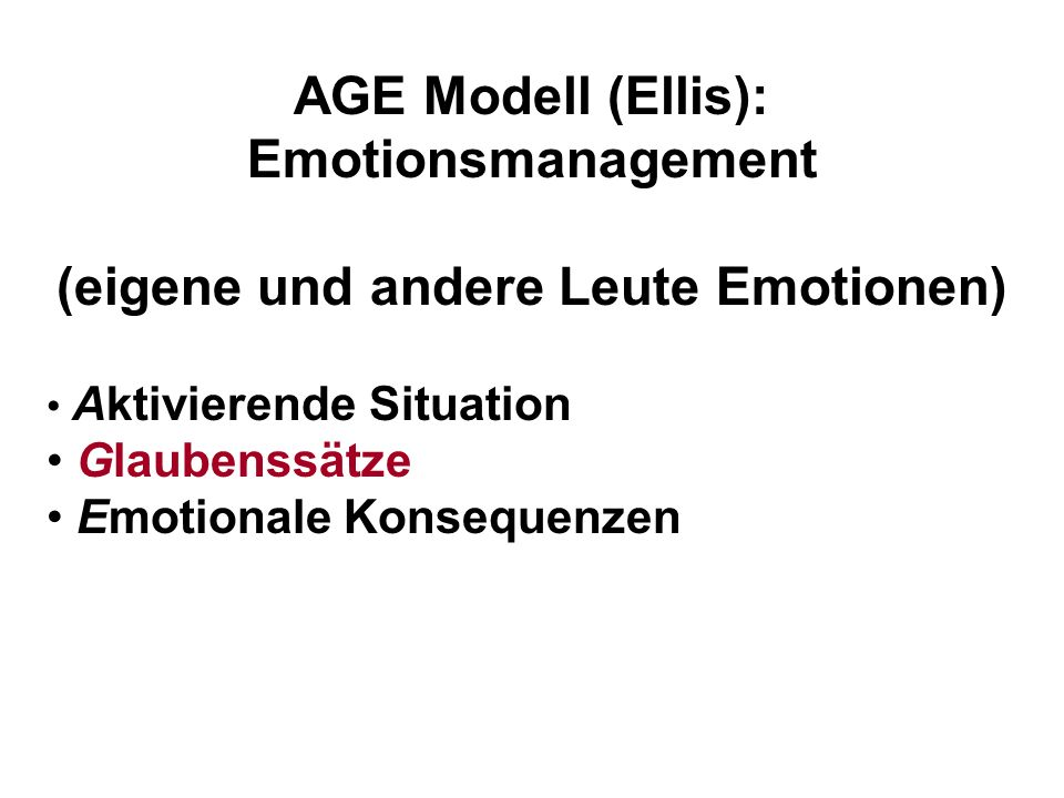 (eigene und andere Leute Emotionen)