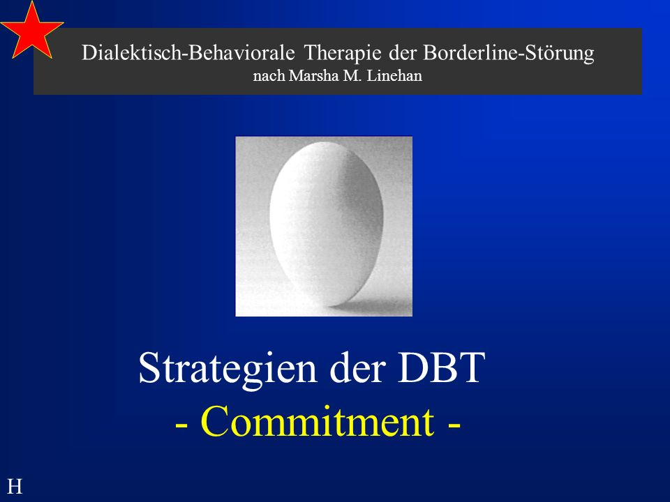 Strategien der DBT - Commitment -