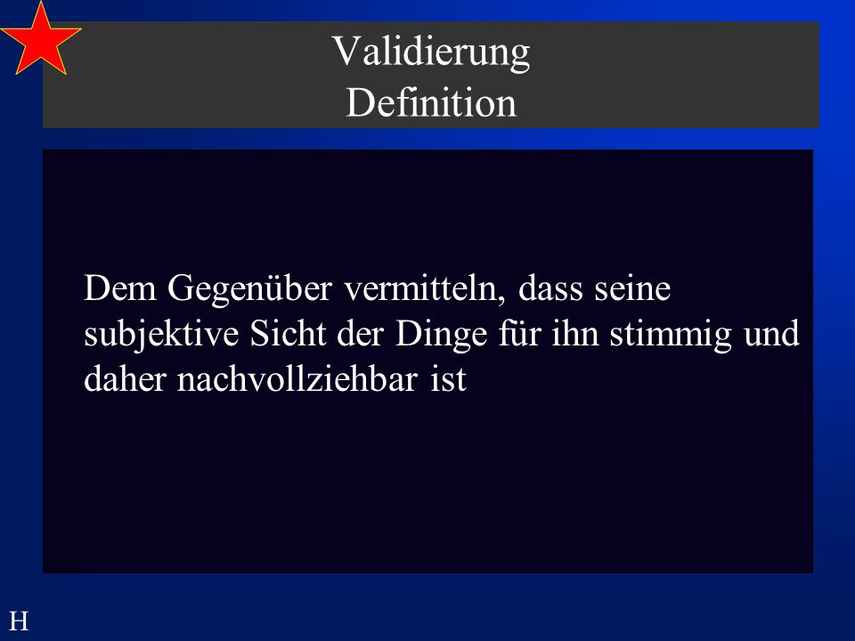 Validierung Definition