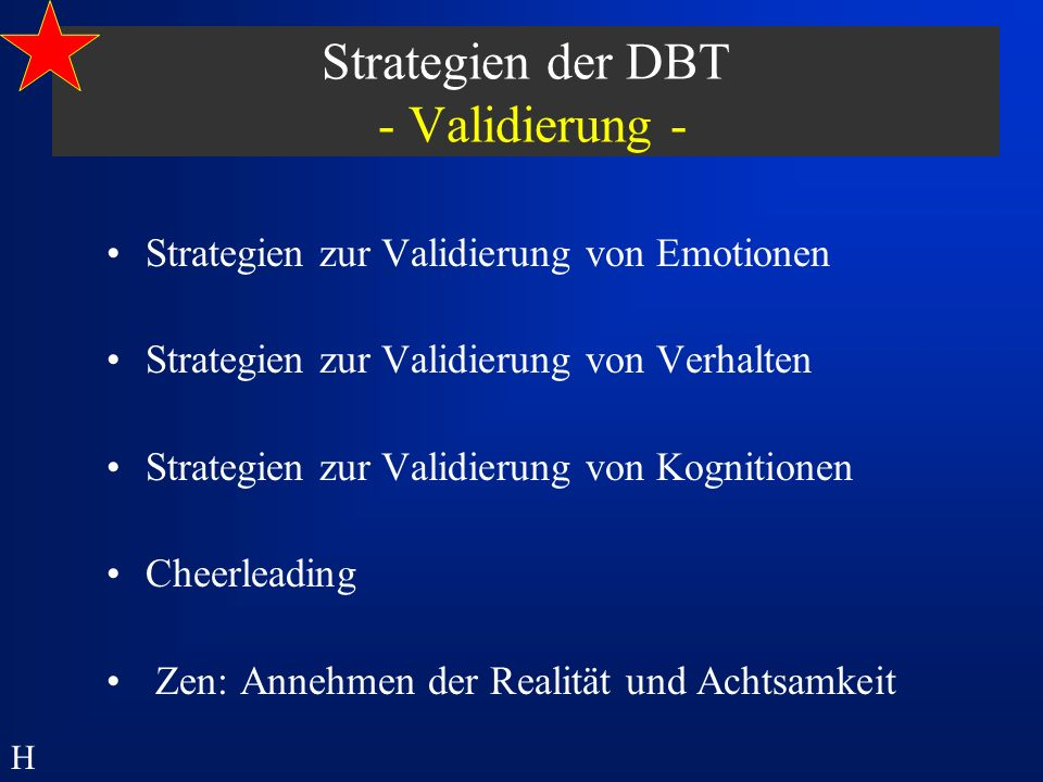 Strategien der DBT - Validierung -