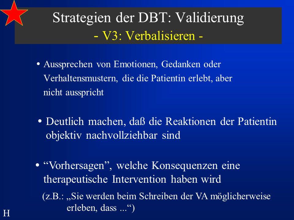 Strategien der DBT: Validierung - V3: Verbalisieren -