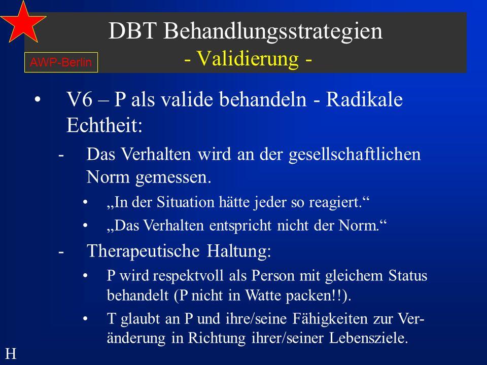 DBT Behandlungsstrategien - Validierung -