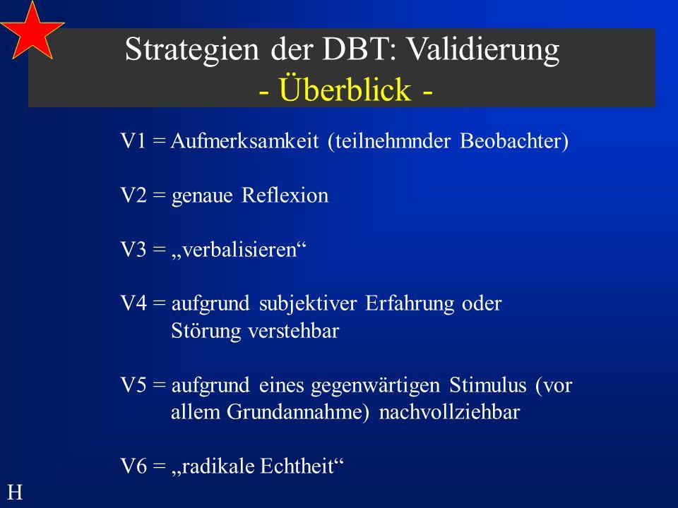 Strategien der DBT: Validierung - Überblick -