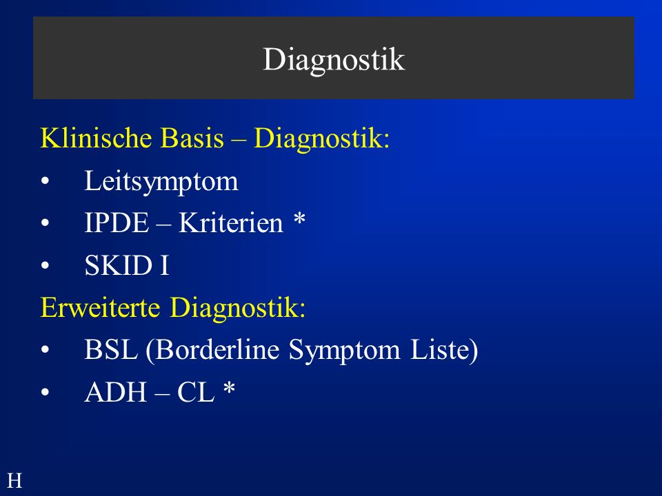Diagnostik Klinische Basis – Diagnostik: Leitsymptom
