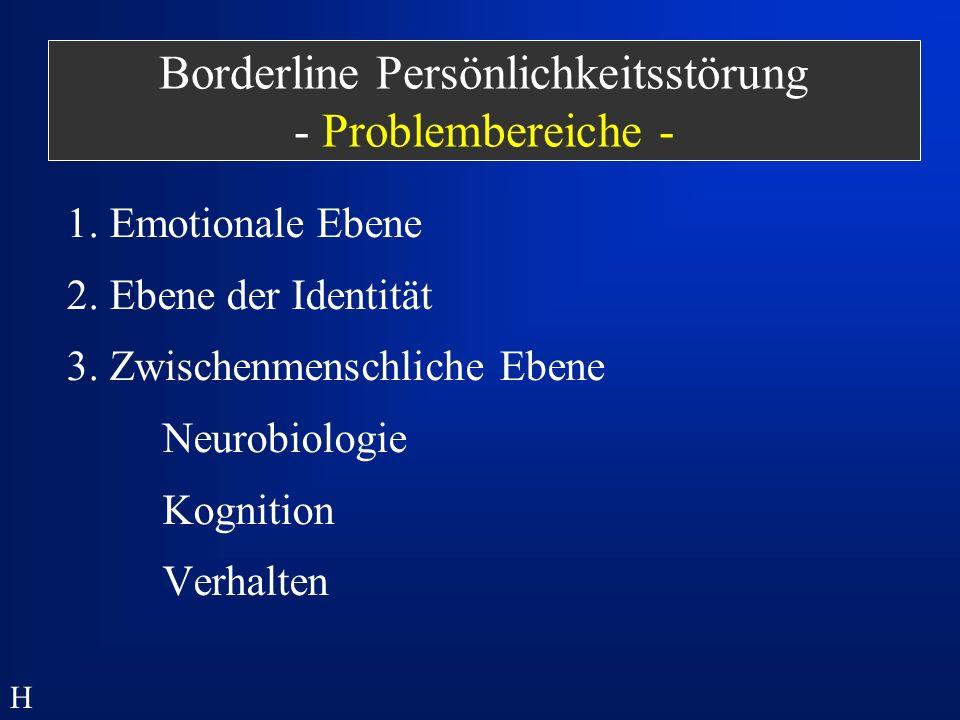 Borderline Persönlichkeitsstörung - Problembereiche -