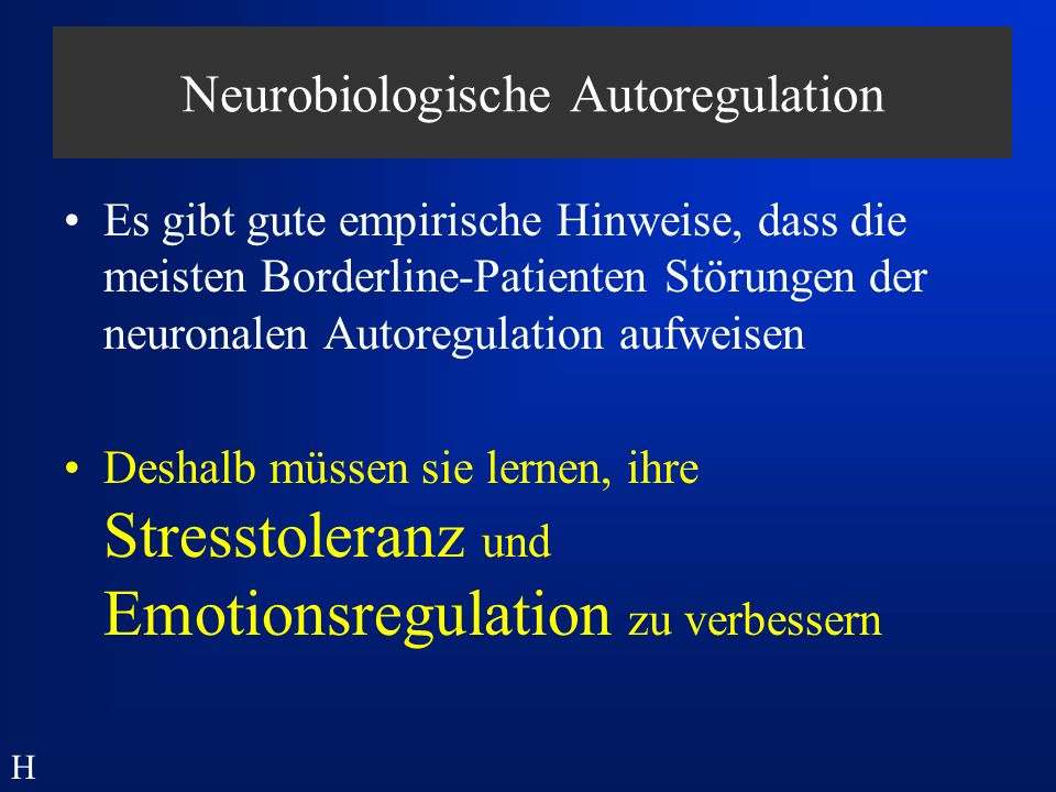 Neurobiologische Autoregulation
