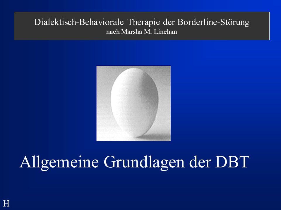 Allgemeine Grundlagen der DBT