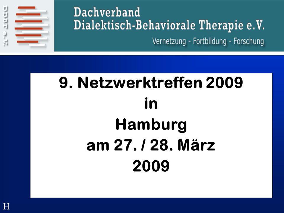 9. Netzwerktreffen 2009 in Hamburg am 27. / 28. März 2009