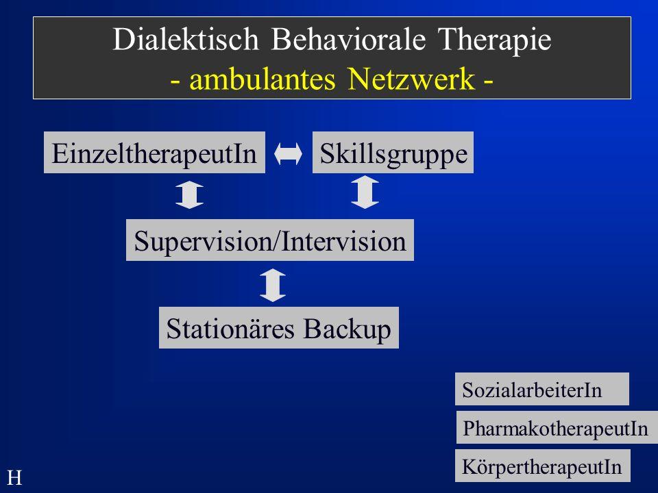 Dialektisch Behaviorale Therapie - ambulantes Netzwerk -