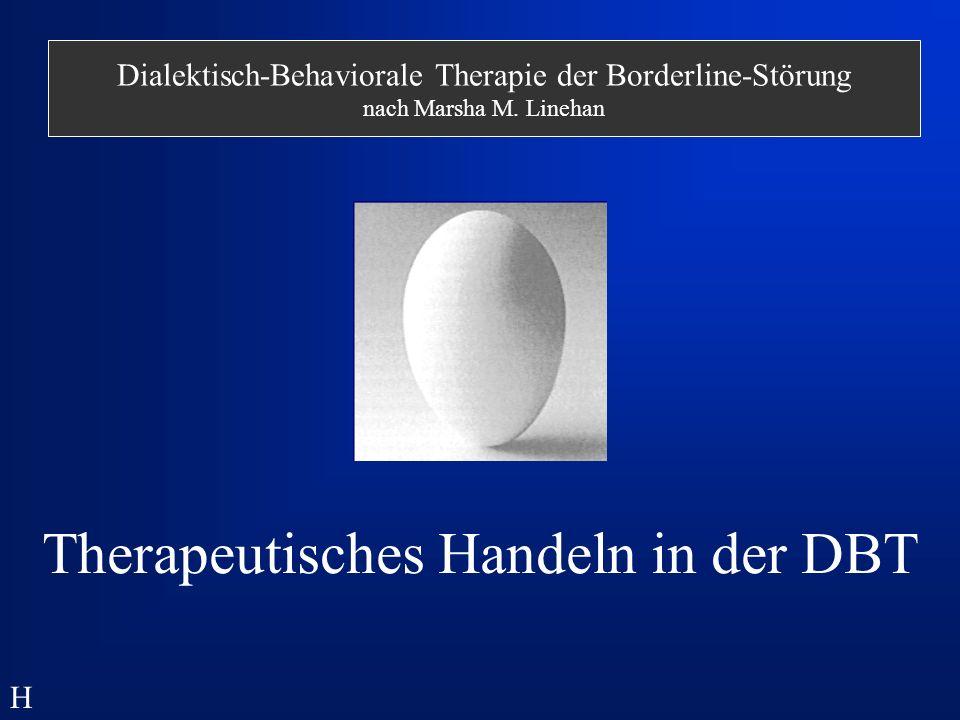 Therapeutisches Handeln in der DBT