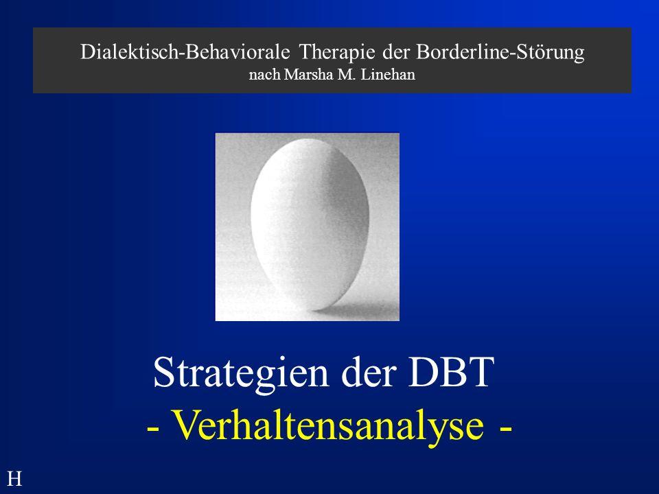 Strategien der DBT - Verhaltensanalyse -